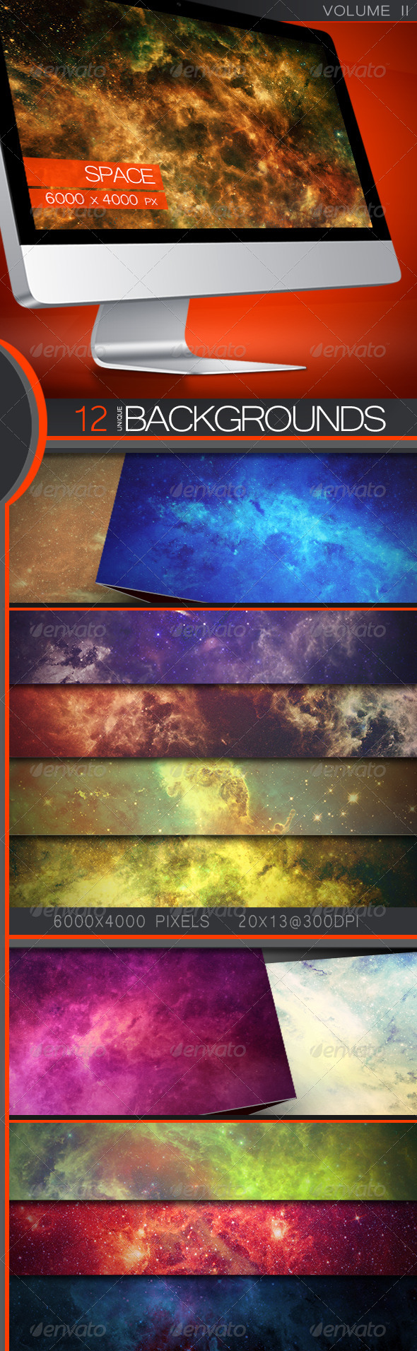 GraphicRiver Space Backgrounds Volume 2 5338263