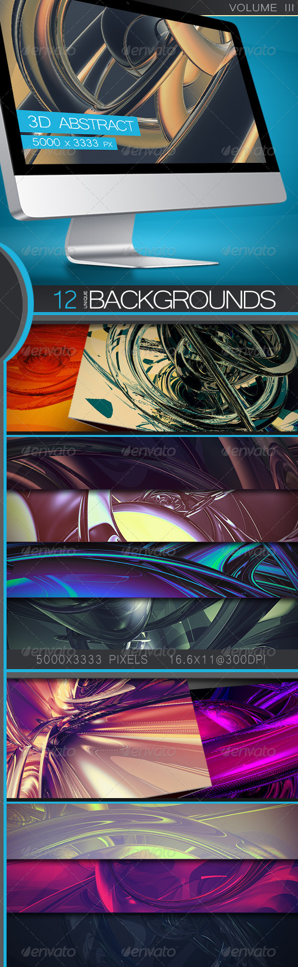 GraphicRiver 3D Abstract Backgrounds Volume 3 5338264