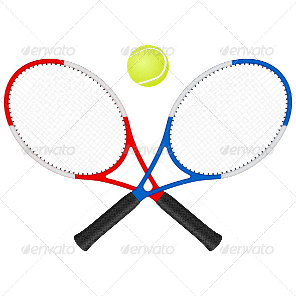 GraphicRiver Tennis Rackets and Ball 5339082