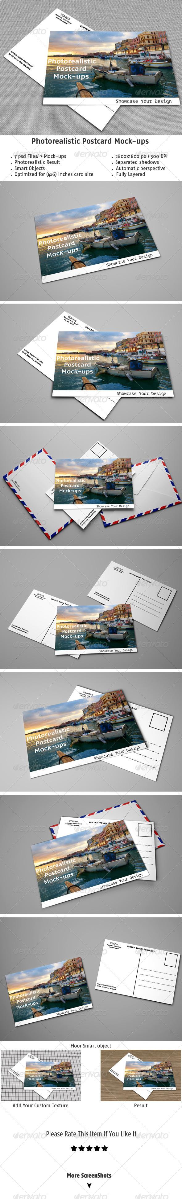 GraphicRiver Realistic Postcard Mock-ups 5339279