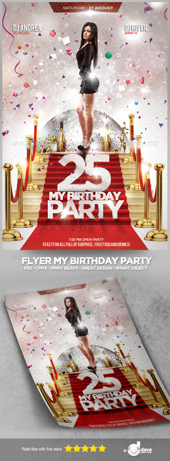 GraphicRiver Flyer My Birthday Party 5339333