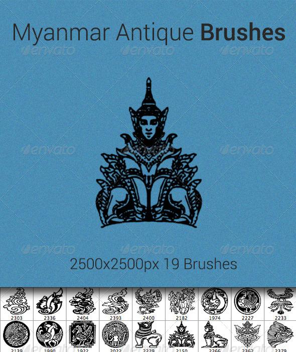 GraphicRiver Myanmar Antique Brush 5339348