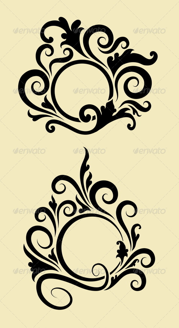 GraphicRiver Circle Ornament Decorations 5339419