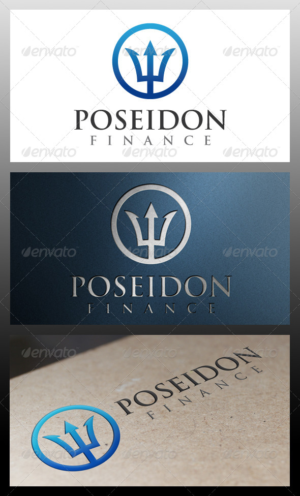 GraphicRiver Poseidon Logo Template 5339426