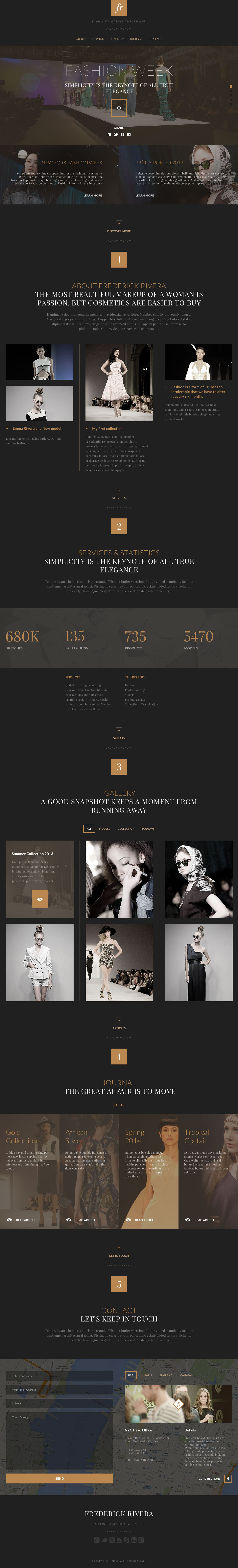 FR – Elegant One Page Fashion PSD Template