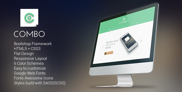 Combo - Responsive Flat Landing Page - Portfolio Creative