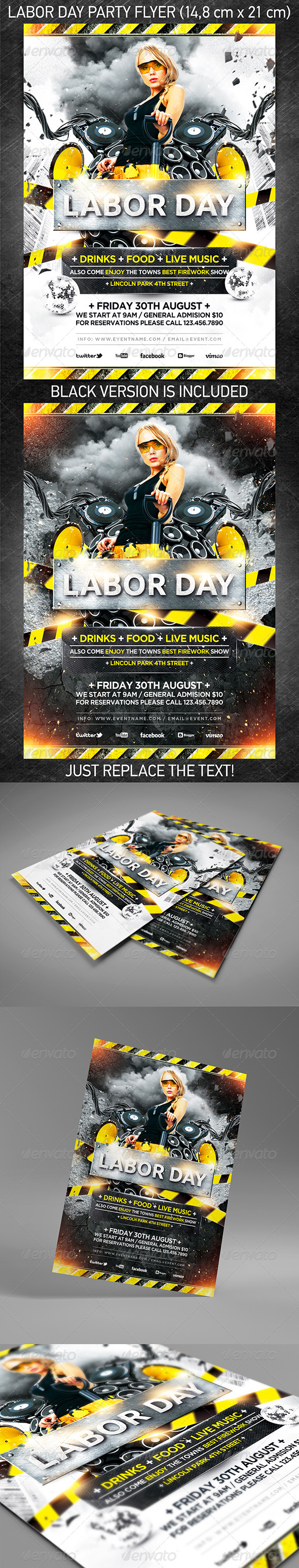 GraphicRiver Labor Day Party Flyer 5339929