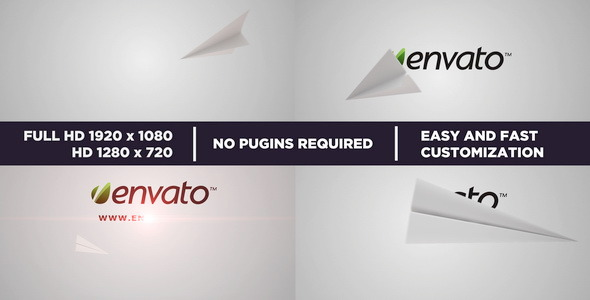 After Effects Project - VideoHive Paper Airplane Light&Dark 549090