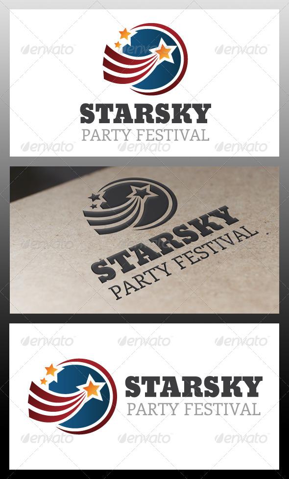 GraphicRiver Stars Sky Logo Template 5340368