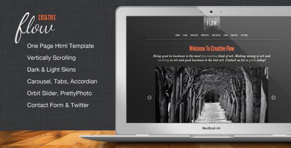 ThemeForest Creative Flow Scrolling Portfolio Template 548120
