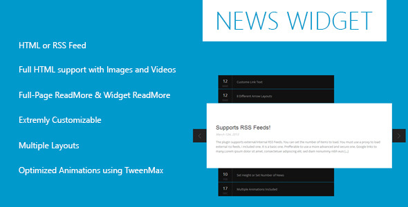 News Widget – jQuery Plugin (News Tickers) images