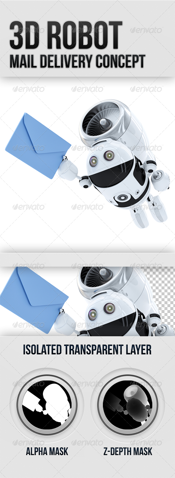 GraphicRiver 3D Robot Mail Delivery Concept 5294499