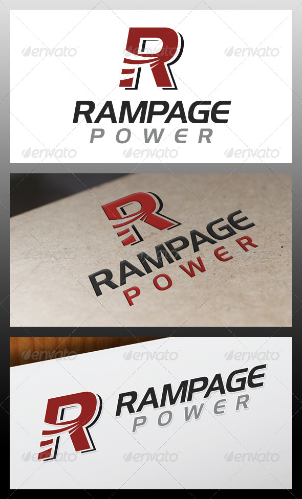 GraphicRiver Rampage Letter R Logo Template 5340852