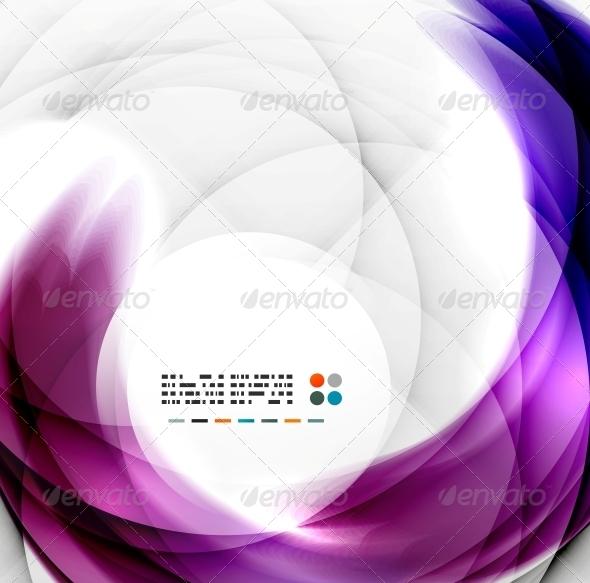 GraphicRiver Abstract Purple Swirl Design 5340906
