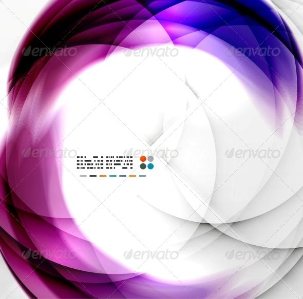 GraphicRiver Abstract Purple Swirl Design 5340920