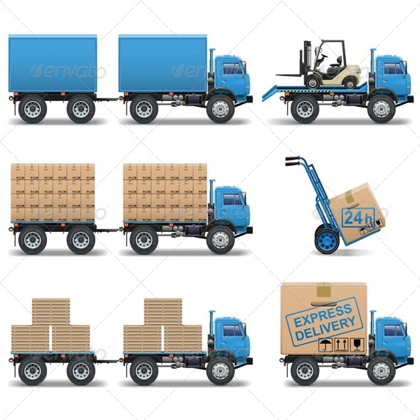 GraphicRiver Shipment Icons Set 5341107