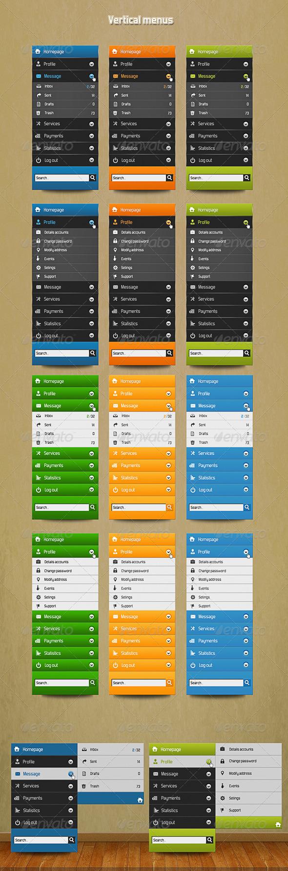 GraphicRiver Vertical user menu 5263563