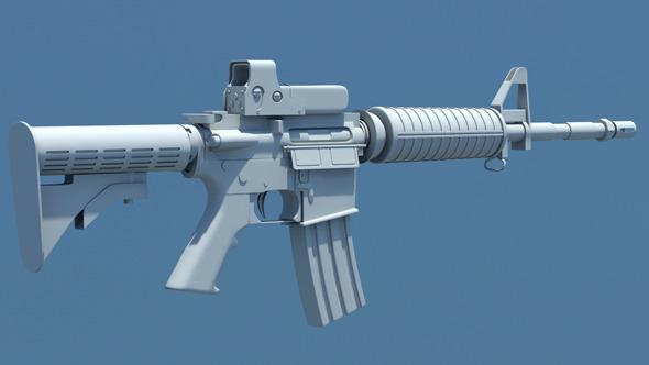 3DOcean M4 Carbine Assault Rifle 549340