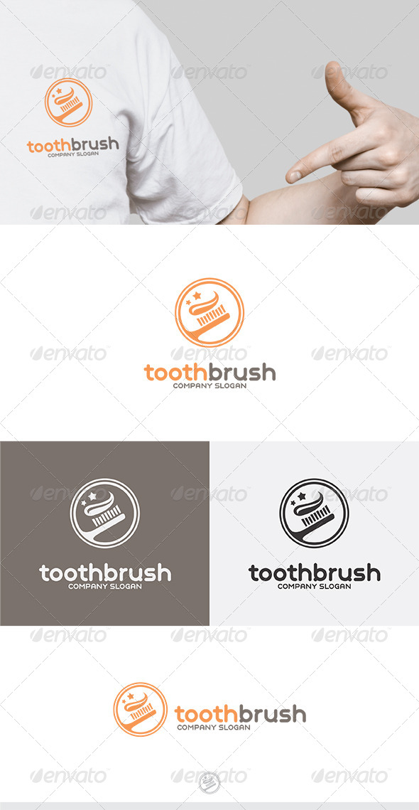 Toothbrush Logo - Vector Abstract