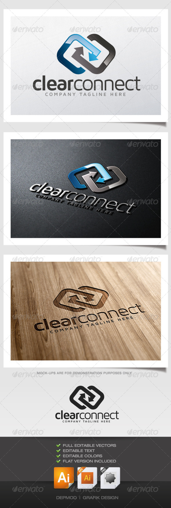 GraphicRiver Clear Connect Logo 5342063