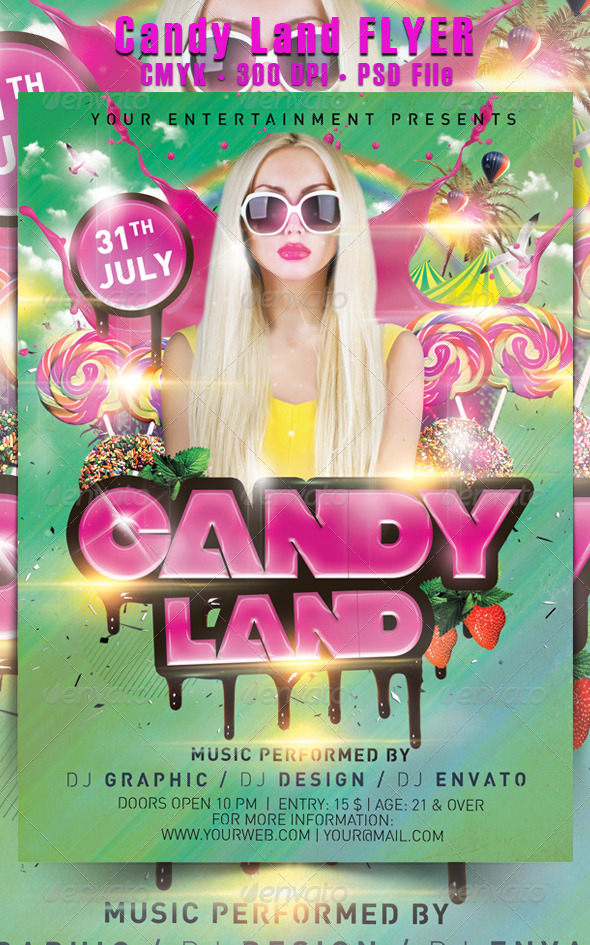 GraphicRiver Candy Land Flyer 5342216