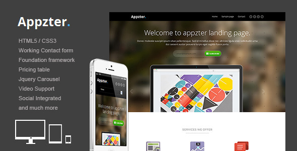 ThemeForest Appzter Responsive multipurpose landing page 5339337