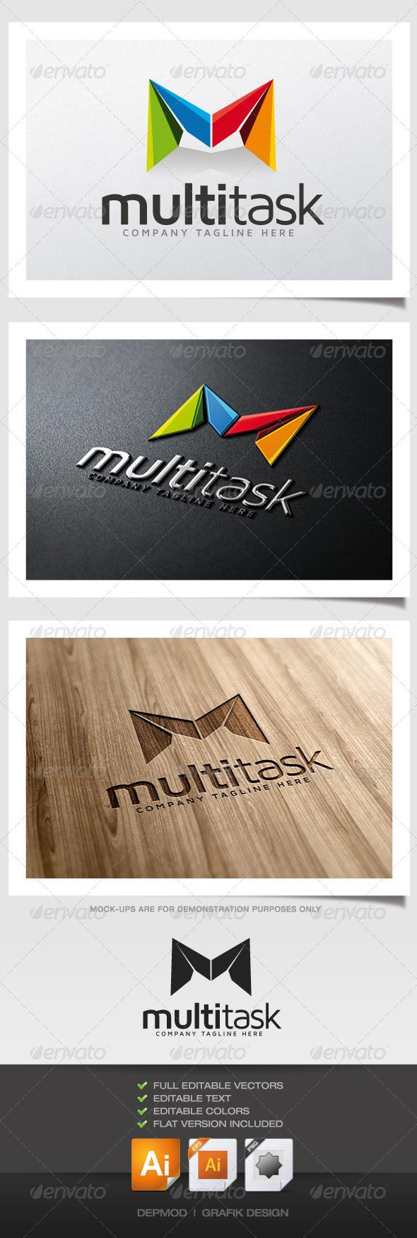 Multi Task Logo - Letters Logo Templates