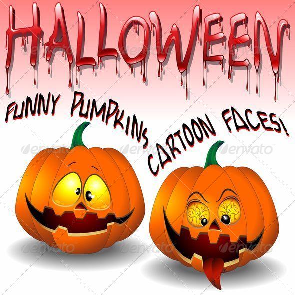 GraphicRiver Halloween Pumpkins Cartoon 5342275