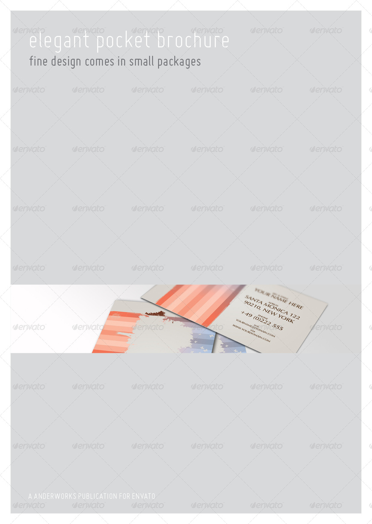 series a6 pocket brochure template by isoarts graphicriver