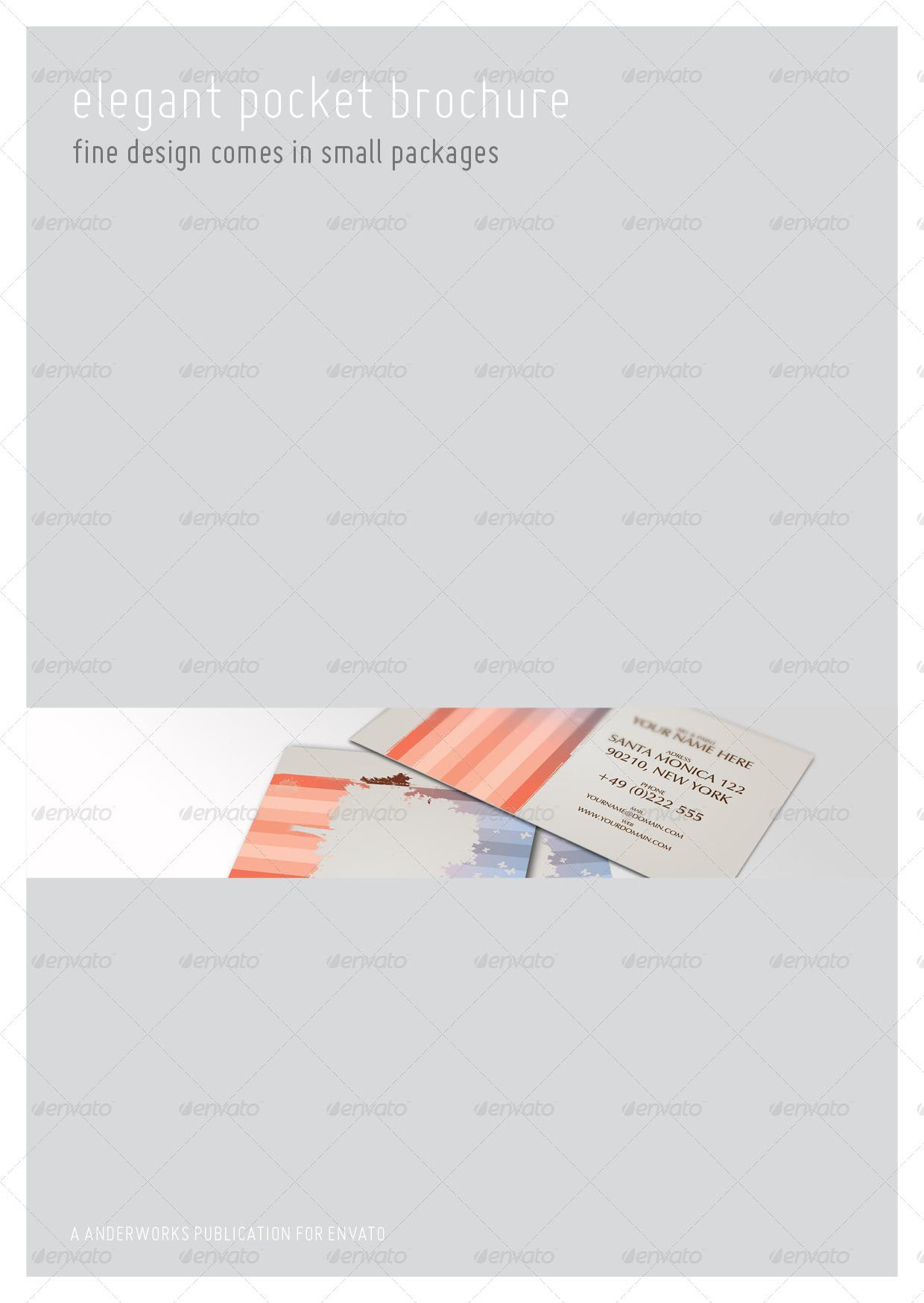 elegant brochure template - elegant series a6 pocket brochure template by isoarts