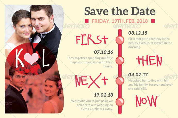 Wedding Save The Date Template By