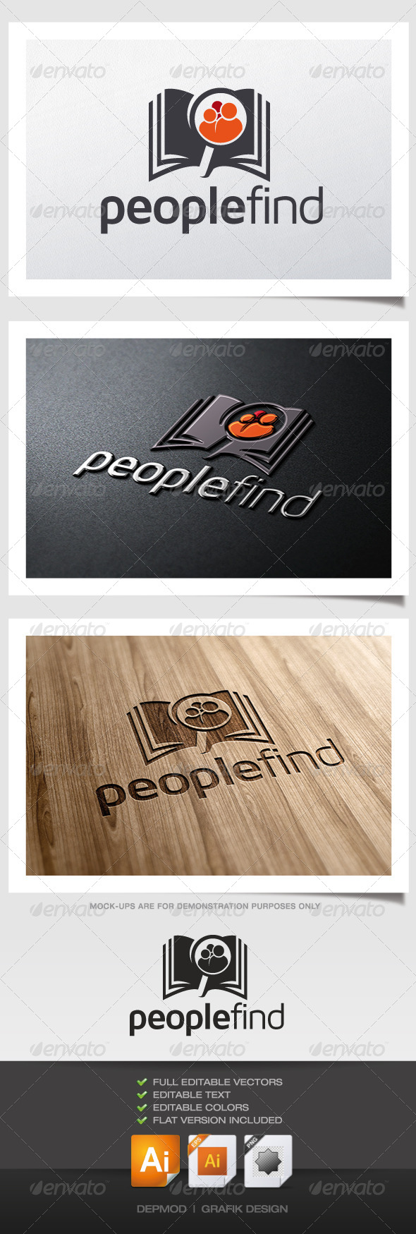 People Find Logo - Symbols Logo Templates