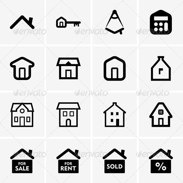 GraphicRiver Real Estate Icons 5342501