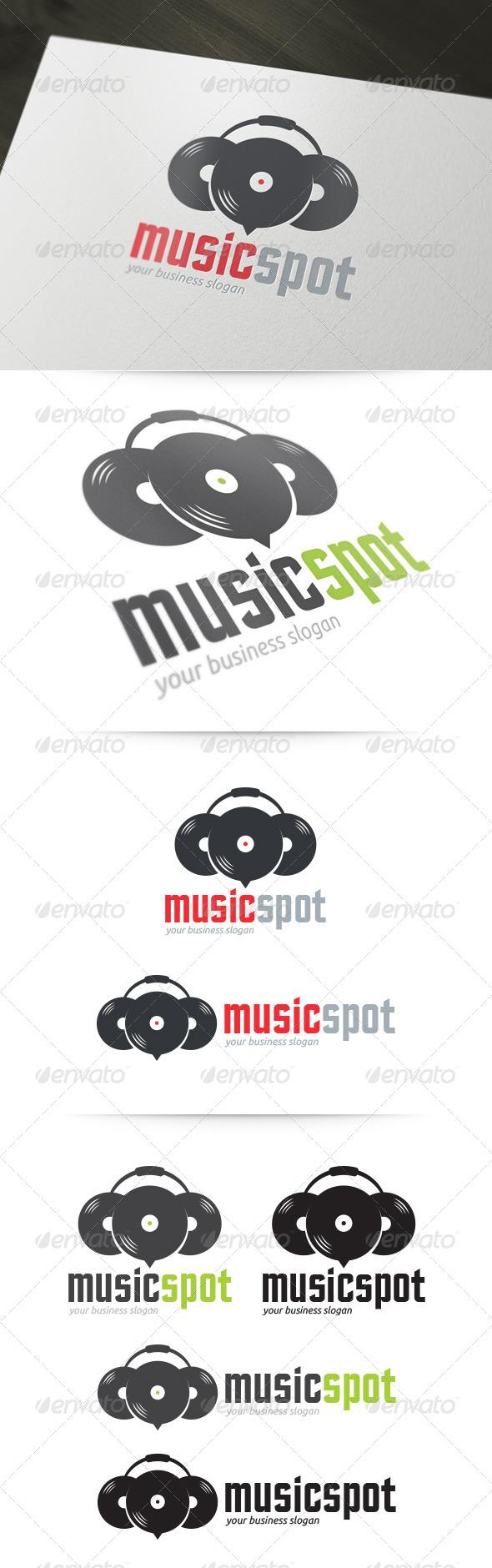 GraphicRiver Music Spot Logo 5342503