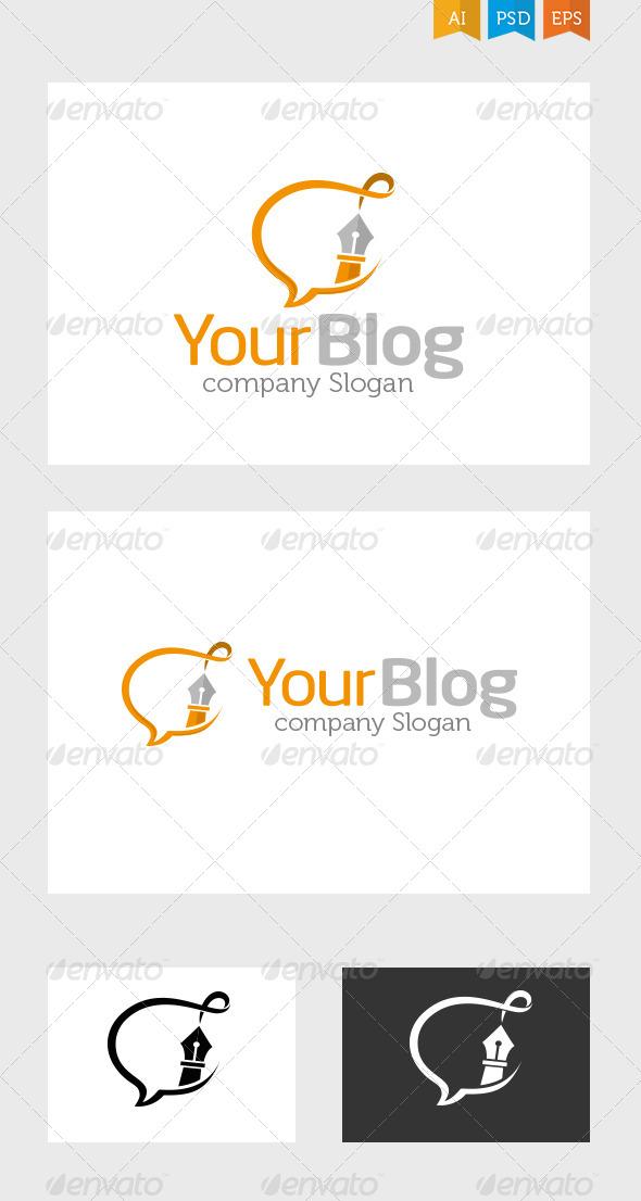 Writers Blog - Symbols Logo Templates