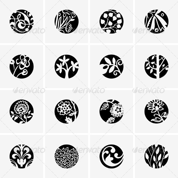 GraphicRiver Flower Icons 5342586