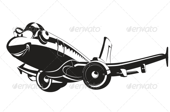 GraphicRiver Vector Cartoon Airliner 5342799