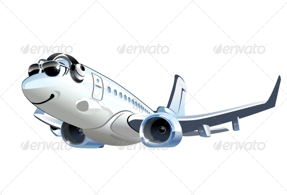 GraphicRiver Vector Cartoon Airliner 5342821