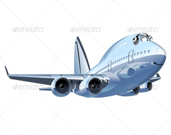 GraphicRiver Vector Cartoon Airliner 5342828