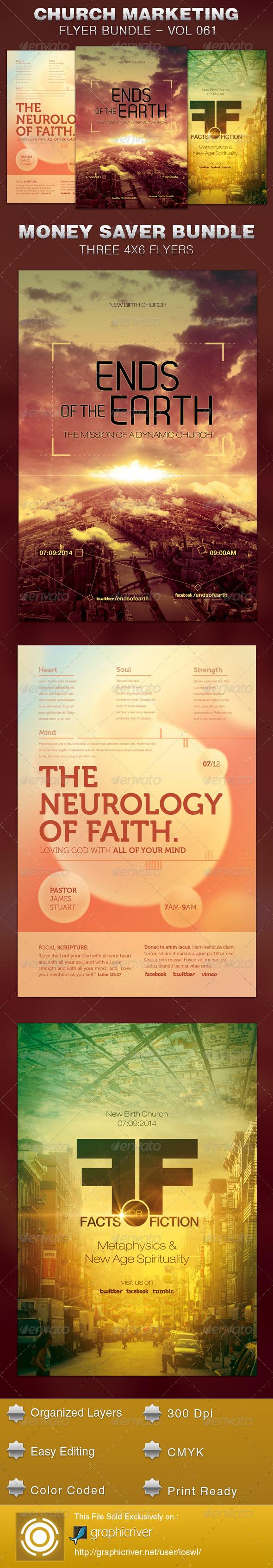 Church Marketing Flyer Template Bundle Vol 061