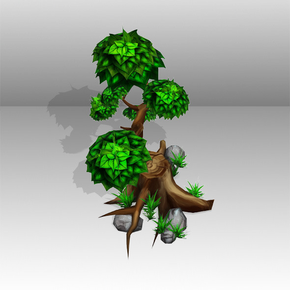 3DOcean Tree Low Poly 5342913