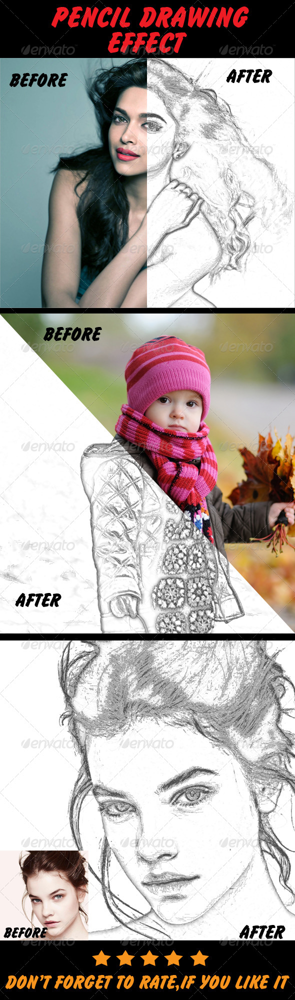 GraphicRiver Pencil Drawing Effect 5343148
