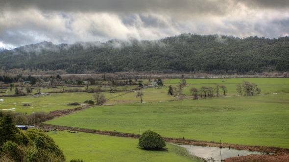 HDR Time Lapse Redwood Forest Farmland Clouds