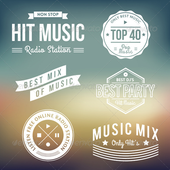 GraphicRiver Music Labels 5343196