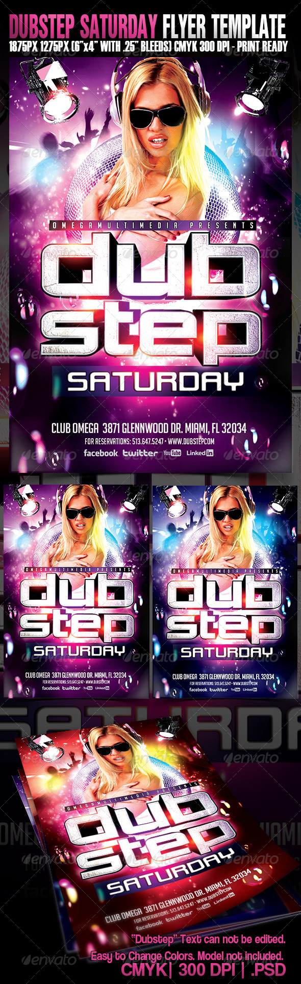 GraphicRiver Dub Step Saturdays 5343477