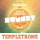 Retro Sunset Flyer Template