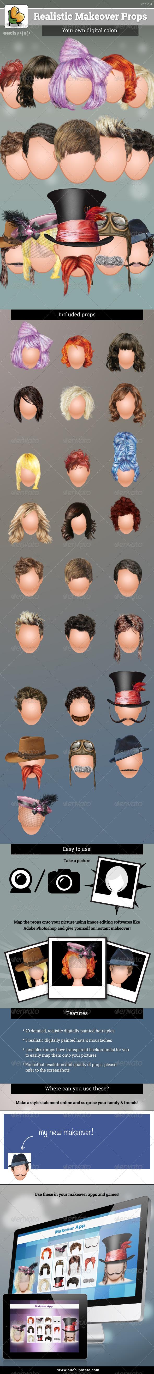 GraphicRiver 30 Realistic Makeover Props 5344151