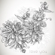 Floral Monochrome Background  - GraphicRiver Item for Sale