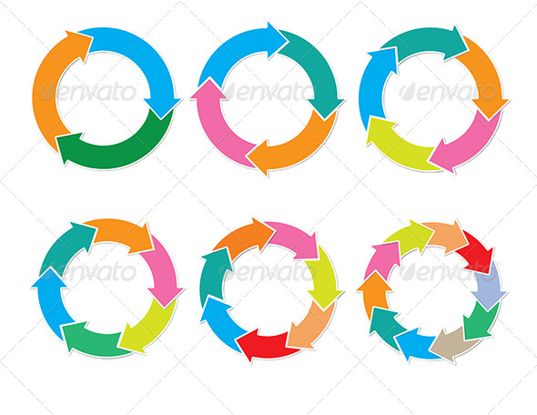 GraphicRiver 6 in 1 circular chart 5344153