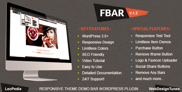 FBar Responsive WordPress Demo Switch Bar Plugin